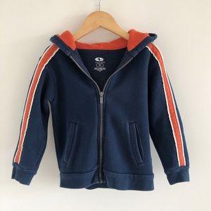 Athletic Works Navy Blue & Orange Zip Hoodie 4T